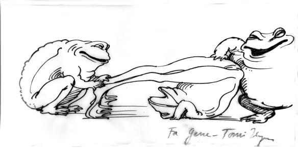 Tomi Ungerer's lasciviopus Frogs for Gene